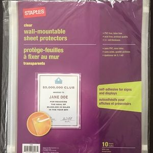 Wall-Mountable Sheet Protectors